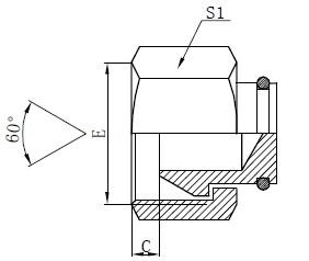 BSP Female Plugs Zeichnung