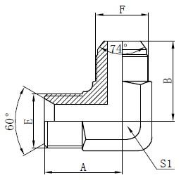 BSP-Hydraulikadapterzeichnung