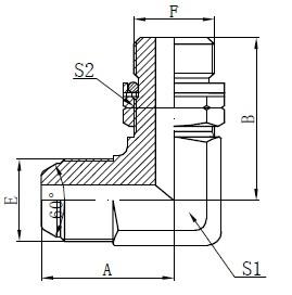BSP O-Ring verstellbare Stiftzeichnung