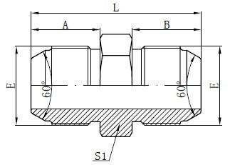 JIS Metric Male Adapter Drawing