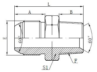 JIS-zu-NPT-Adapterzeichnung