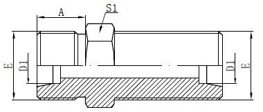 Metrische Bulkhead-Steckverbinder zeichnen