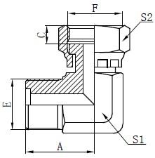 Metrische O-Ring-Armaturenzeichnung